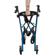 lichtgewicht inklapbare rollatorblauw-2