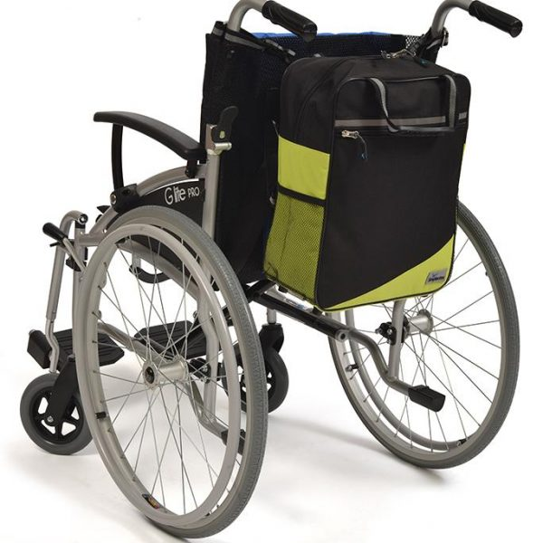Wheelyscoot tas zwart/groen