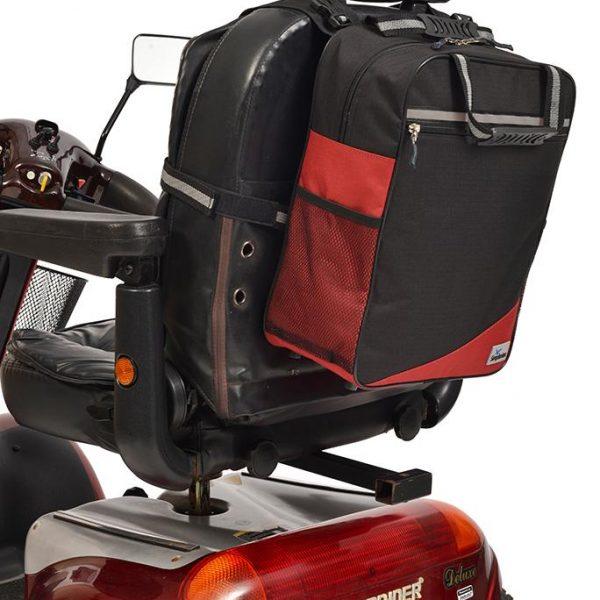 Wheelyscoot tas zwart/burgundy
