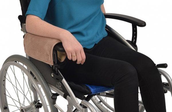 Fleece rolstoelarmsteun-beschermer