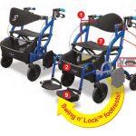 Airgo Fusion Inklapbare rollator & transportrolstoel in één