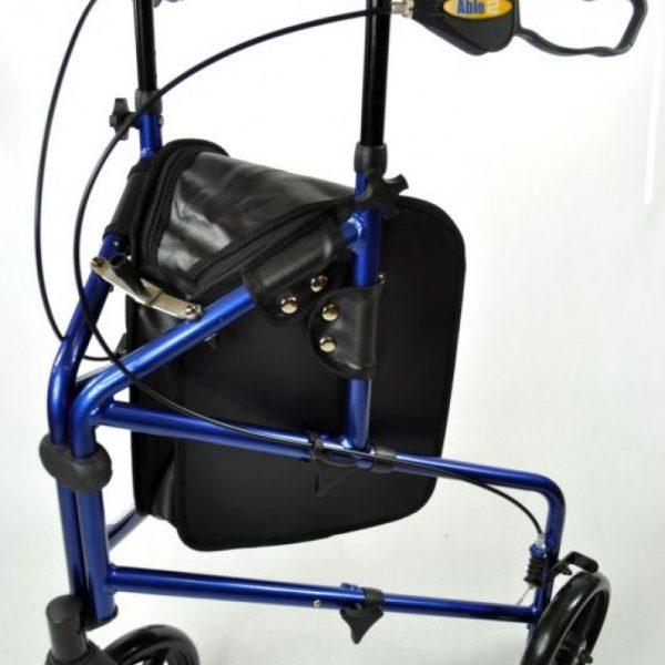Aluminium 3-wiel rollator blauw