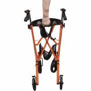 inklapbare lichtgewicht rollator oranje-3