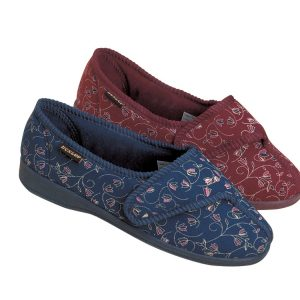 Pantoffels BlueBell-rood of blauw