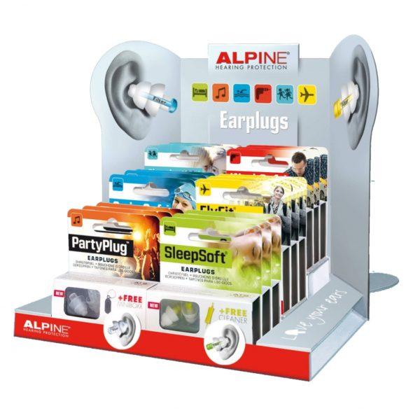 Display Alpine oordopjes 18 stuks