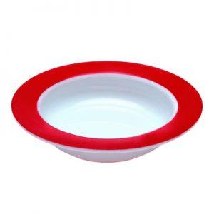 Ornamin kom wit/rood