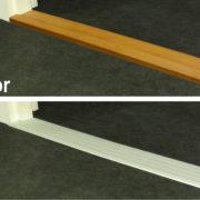 Indoor drempelvervanger aluminium of decoprint hout