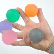 Handtrainer gelballen verschillende materialen en kleuren