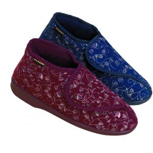 Pantoffels Betsy vrouw-rood of blauw