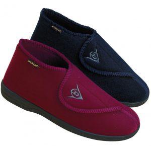 Pantoffels Albert blauw of rood