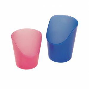 Flexibele medicijnbeker blauw 59 ml of roze 30 ml