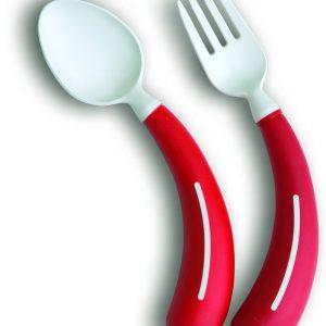 Henro-Grip vork of lepel rechtshandig rood